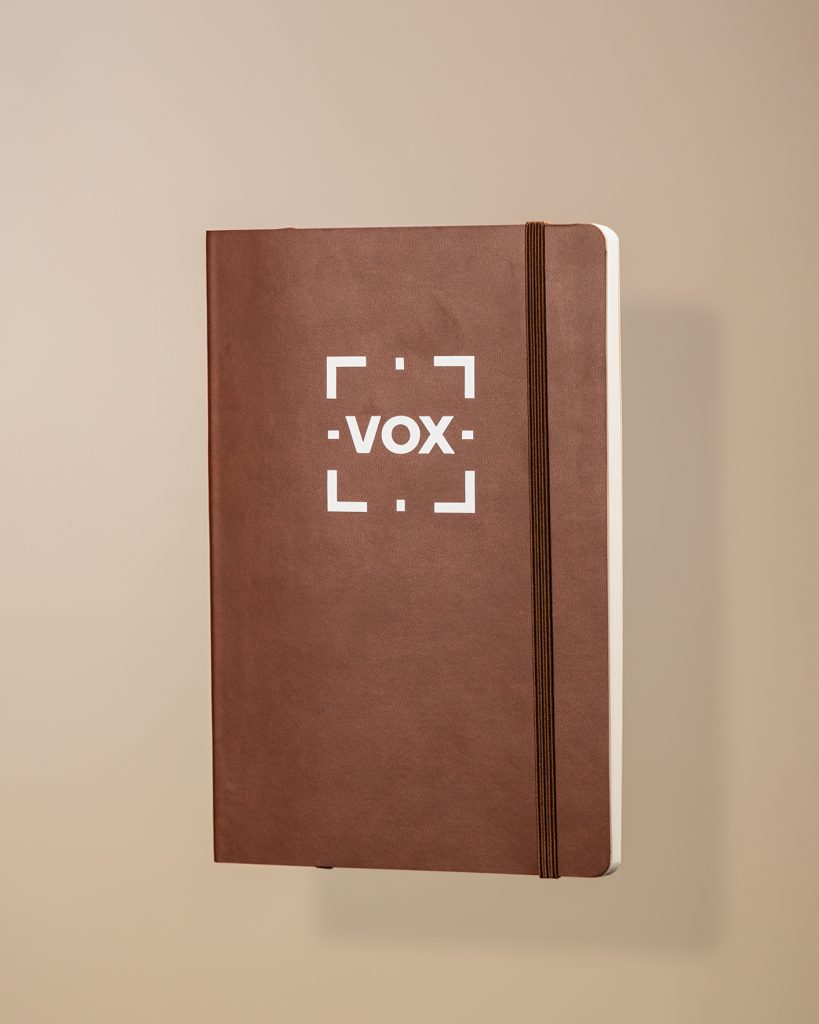 Vox Brown Notebook-4 new hire welcome boxes