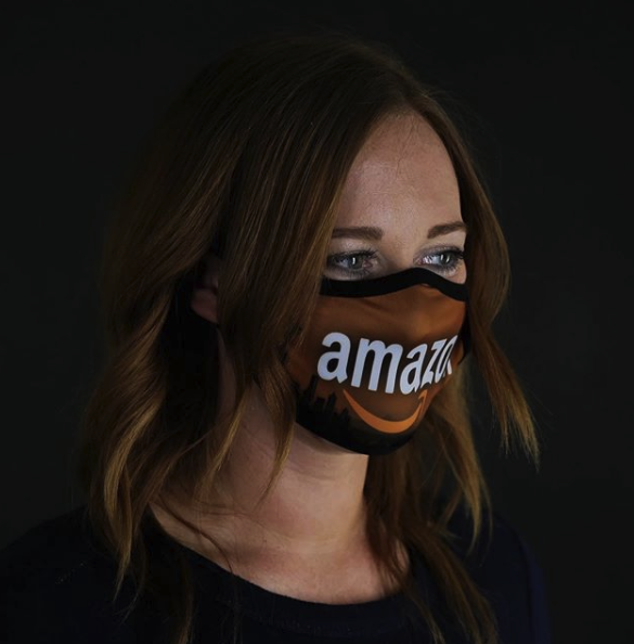 Full custom printed amazon face mask