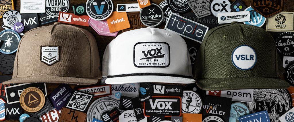 custom patches for hats vox utah