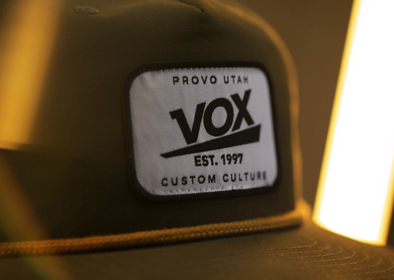 custom woven hat patches vox provo utah