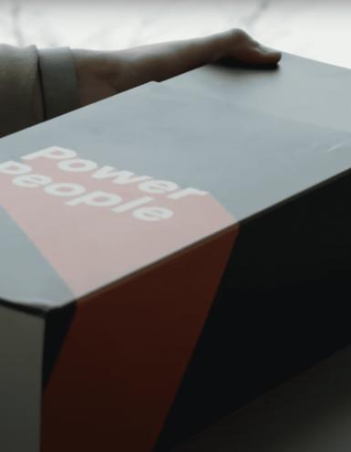 custom sliding box for employee onboarding
